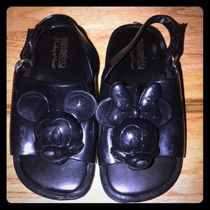 Mini Melissa Mickey and Minnie Mouse sandals